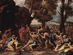Moses Striking Water from the Rock – Nicolas Poussin