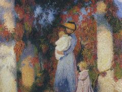 Mother and Child in Pergola at Marquayrol – Henri Martin