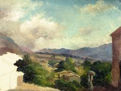 Mountain Landscape at Saint Thomas, Antilles (unfinished) – Camille Pissarro