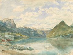 Mountain landscape with the Grundlsee – Rudolf von Alt