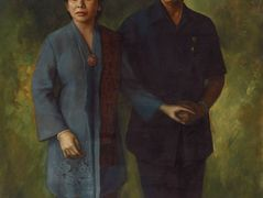 Mr. Adam Malik and Wife — Basuki Abdullah