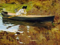 Mrs. Chase in Prospect Park – William Merritt Chase