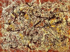Mural on Indian red ground – Jackson Pollock