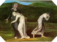 Naomi entreating Ruth and Orpah to return to the land of Moab – William Blake