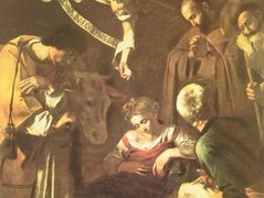 Nativity with St. Francis and St. Lawrence — Caravaggio