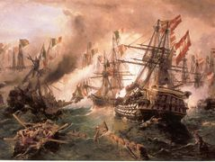 Naval battle at Lissa – Konstantinos Volanakis