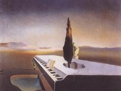 Necrophiliac Fountain Flowing from a Grand Piano – Salvador Dali