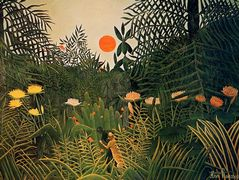 Negro Attacked by a Jaguar – Henri Rousseau