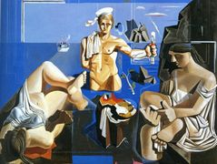 Neo-Cubist Academy (Composition with Three Figures) – Salvador Dali