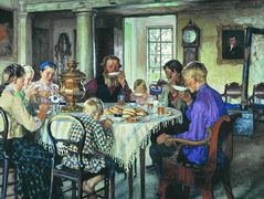 New Owners (Tea-Drinking) – Nikolay Bogdanov-Belsky