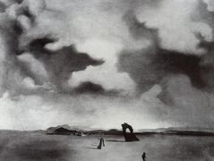 Night Spectre on the Beach – Salvador Dali