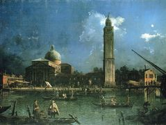 Night time Celebration Outside the Church of San Pietro di Castello – Canaletto