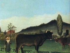 (Landscape with cow) – Henri Rousseau