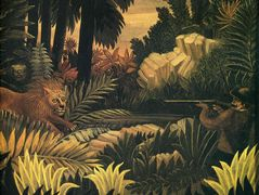 The Lion Hunter – Henri Rousseau