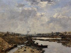 Fecamp, the Inner Port under Construction – Eugene Boudin