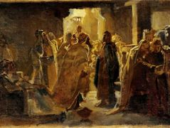 Christ in the synagogue – Nikolai Ge
