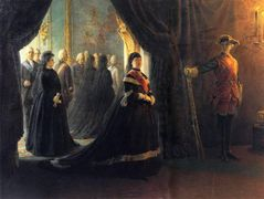 Catherine II (1729-96) at the Coffin of Empress Elizabeth (1709-61) – Nikolai Ge