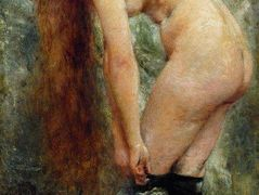 Nude Woman in Black Stockins – Konstantin Makovsky