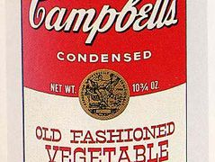 Campbell's Soup Can (Old Fashioned Vegetable) — Andy Warhol