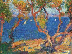 Olive Trees by the Sea – Henri Martin