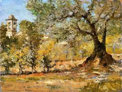 Olive Trees, Florence — William Merritt Chase