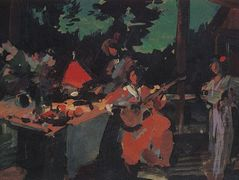 On a Terrace. Evening in the Coutry – Konstantin Korovin