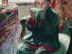On a Visit  – Nikolay Bogdanov-Belsky