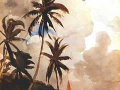 Palm trees (Bahamas) – Winslow Homer