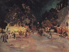 Paris at Night – Konstantin Korovin
