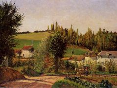 Path of Hermitage at Pontoise – Camille Pissarro