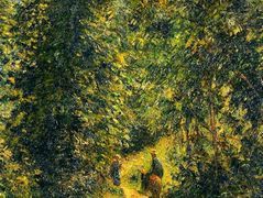 Path under the Trees, Summer – Camille Pissarro