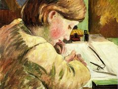 Paul Writing – Camille Pissarro