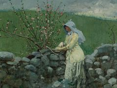 Peach Blossoms – Winslow Homer
