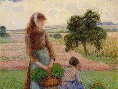 Peasant Woman Carrying a Basket – Camille Pissarro