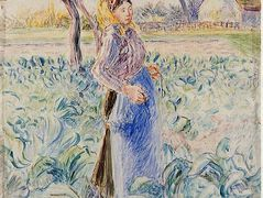 Peasant Woman in a Cabbage Patch – Camille Pissarro