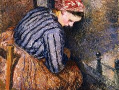 Peasant Woman Warming Herself – Camille Pissarro
