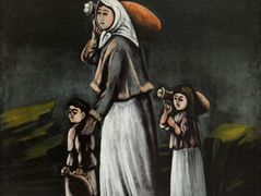 Peasant Woman with Children Goes for Water – Niko Pirosmani