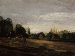 Peasant Working in the Fields – Camille Pissarro