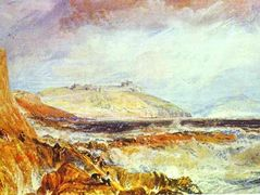 Pendennis Castle, Cornwall Scene after a Wreck — William Turner