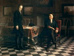 Peter the Great Interrogating the Tsarevich Alexei Petrovich at Peterhof – Nikolai Ge