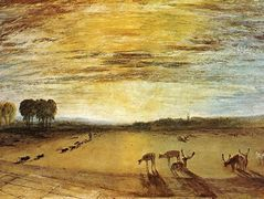 Petworth Park, Tillington Church in the Distance — William Turner