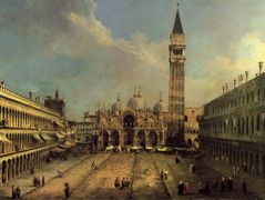Piazza San Marco Looking East along the Central Line – Canaletto