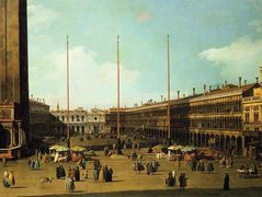 Piazza San Marco, Looking Towards San Geminiano – Canaletto