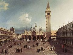 Piazza San Marco with the Basilica – Canaletto
