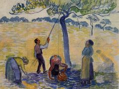Picking Apples – Camille Pissarro