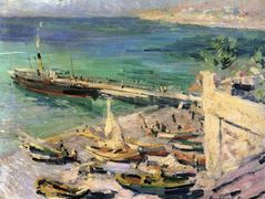 Pier in the Crimea  – Konstantin Korovin