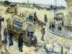 Place de la Republique, Rouen (with Tramway) – Camille Pissarro