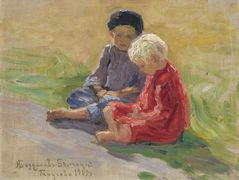 Playing Children – Nikolay Bogdanov-Belsky