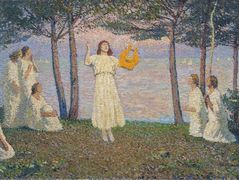 Poetesses on a Lake Shore – Henri Martin