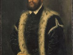 Portrait of a man with ermine coat — Titian